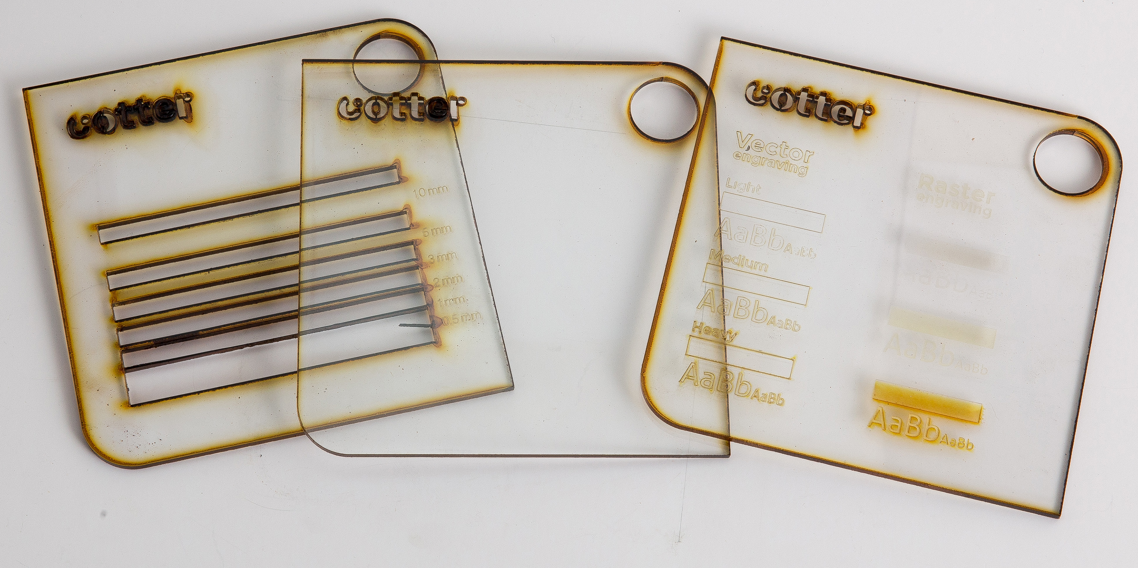 Laser cutting polycarbonate