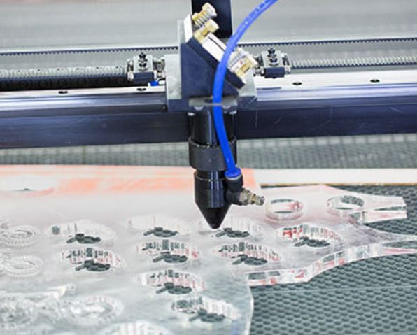 Laser cutting plastic