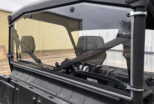Polycarbonate windshield