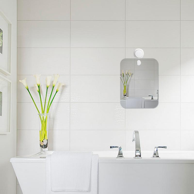 Acrylic fog free shower mirror