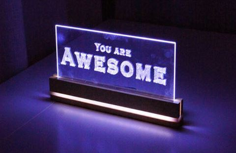 LED light acrylic sign