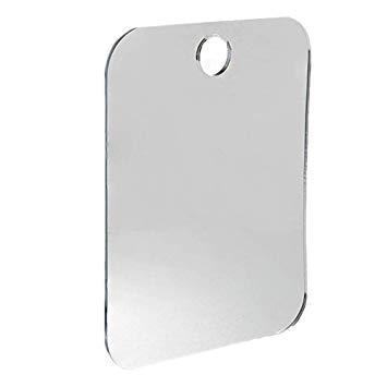 Portable fog free shower mirror