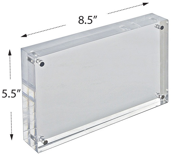Acrylic sign frame dimensions