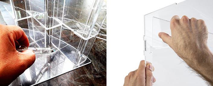 Bonding and assembling acrylic box