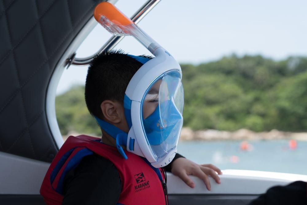 Kids snorkel mask