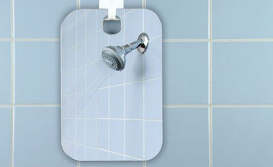 Fog free shower mirror