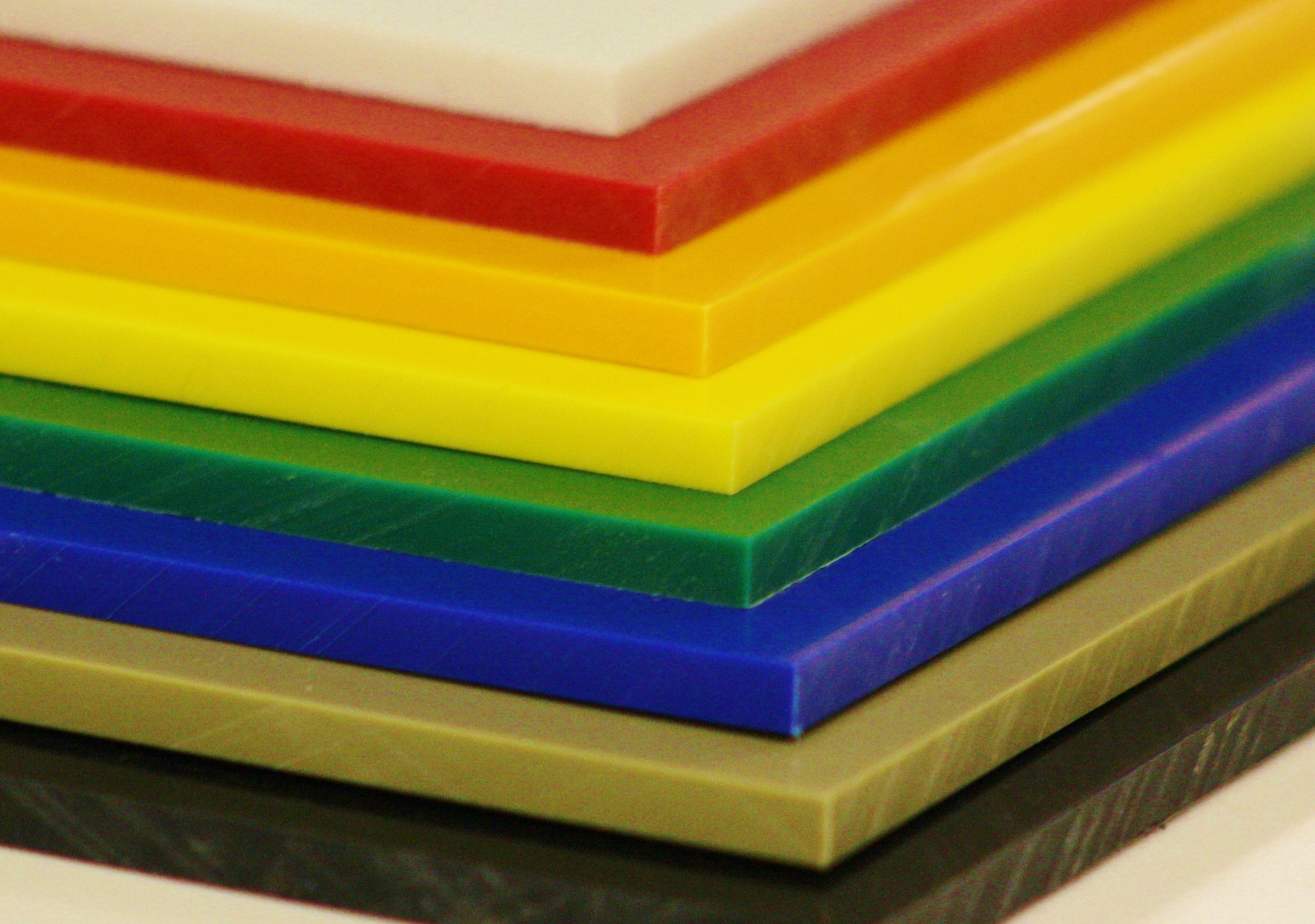 Different colors of HDPE plastic