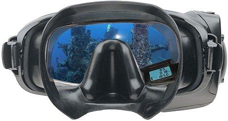 Integrated diver display mask