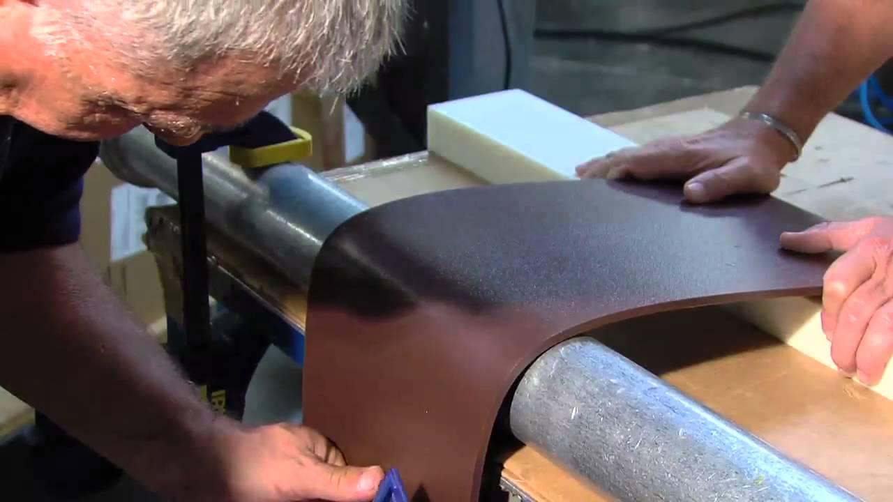 Bending HDPE sheet
