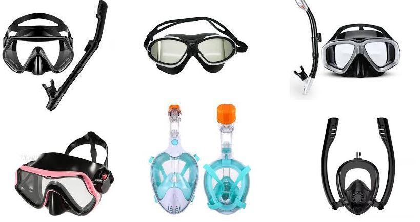 Anti fog diving mask designs