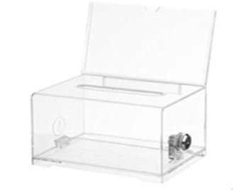 Small Clear Acrylic Suggestion Box