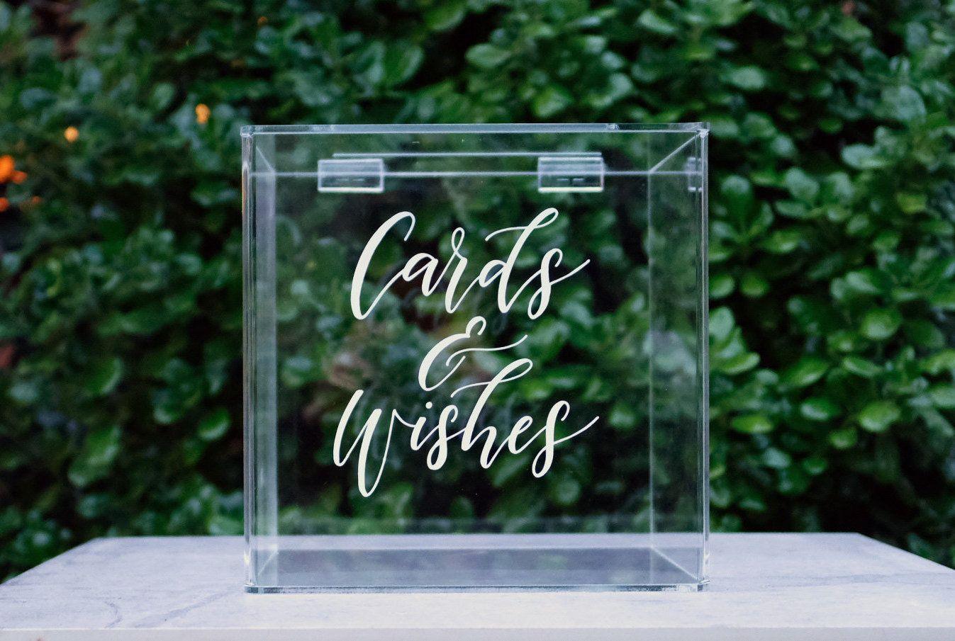 Acrylic Wishing Wells Wedding Gift Box