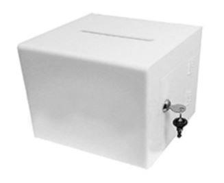 White Acrylic Ballot Box