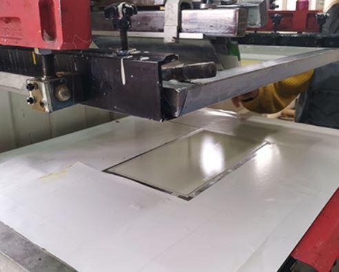 Screen Printing Acrylic Suggestion Box Panel
