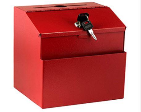 Small Lockable Colored Suggestion Box