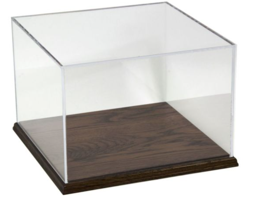 Clear Acrylic Box with wooden base