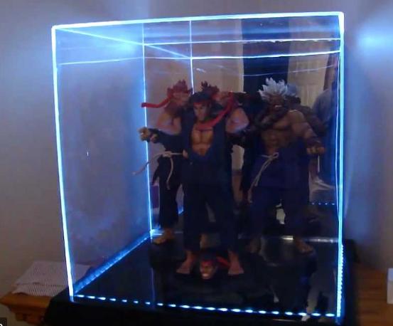 Clear Acrylic Box with LEDs