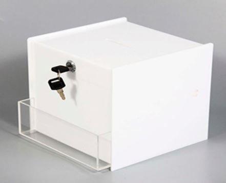 White Acrylic Suggestion Box