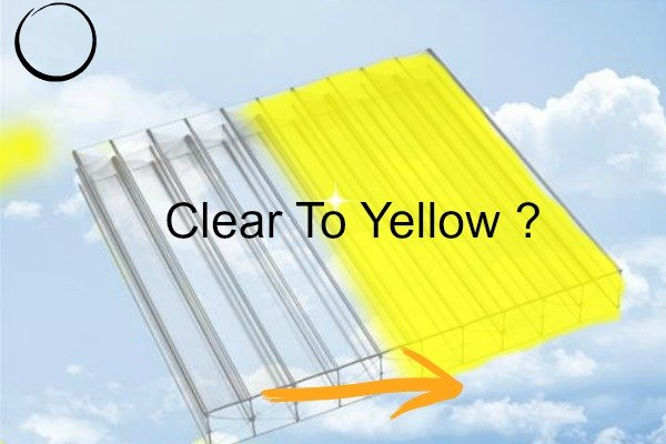 Polycarbonate sheet turns yellow
