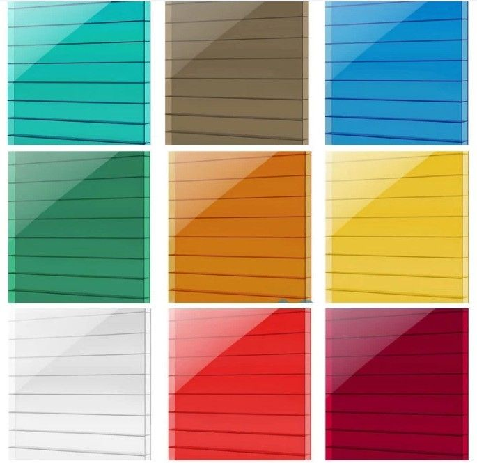Different colors of polycarbonate panel for windows
