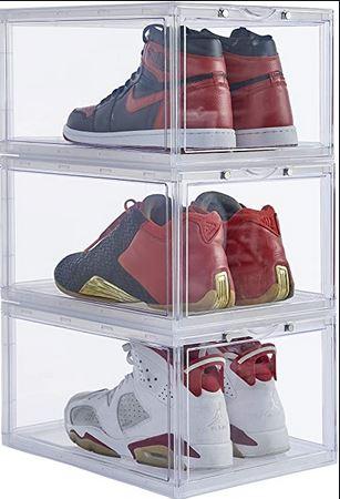 stackable acrylic shoe box