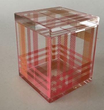 printed acrylic shoe box