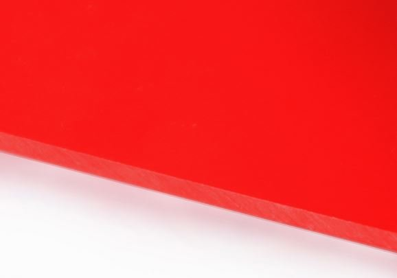 Red 25mm solid polycarbonate sheet